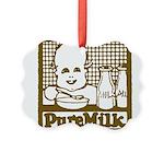 Vintage Pure Milk Picture Ornament