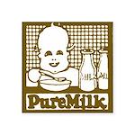 Vintage Pure Milk Square Sticker 3