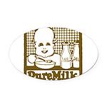 Vintage Pure Milk Oval Car Magnet