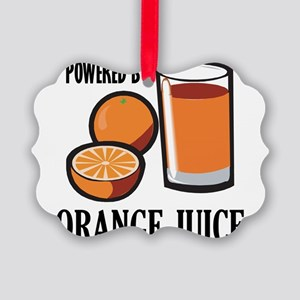 Powered By Orange Juice Picture Ornament