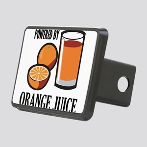 Powered By Orange Juice Rectangular Hitch Cover