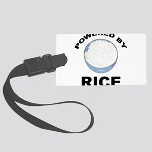 Powered By Rice Large Luggage Tag