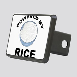 Powered By Rice Rectangular Hitch Cover