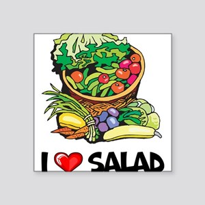 "I Love Salad Square Sticker 3"" x 3"""