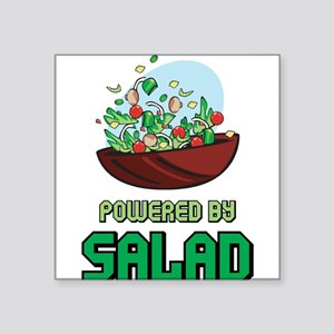 "Powered By Salad Square Sticker 3"" x 3"""