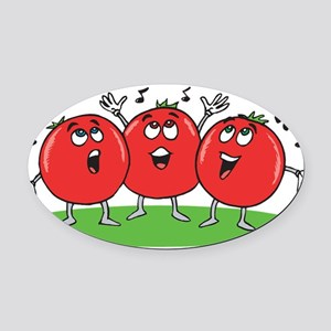 Singing Tomatoes Oval Car Magnet