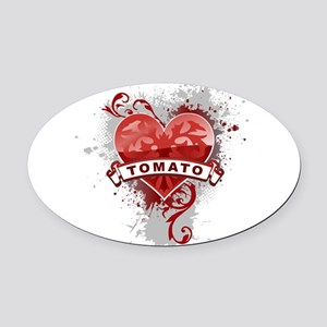 Heart Tomato Oval Car Magnet