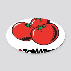 I Love Tomatoes Oval Car Magnet