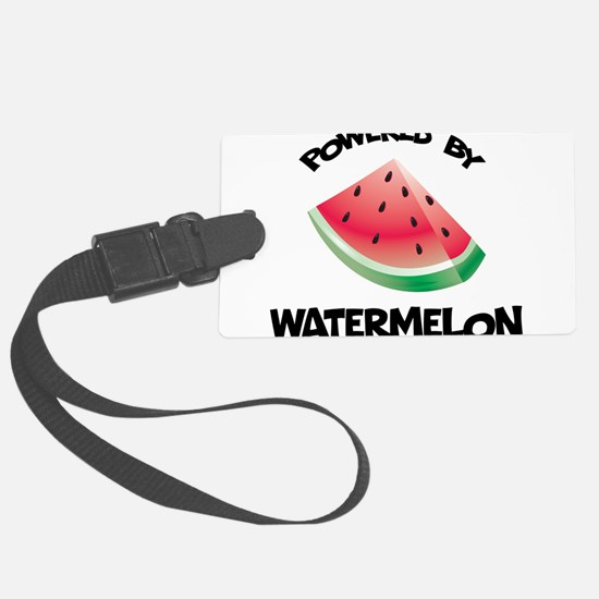 Powered By Watermelon Luggage Tag