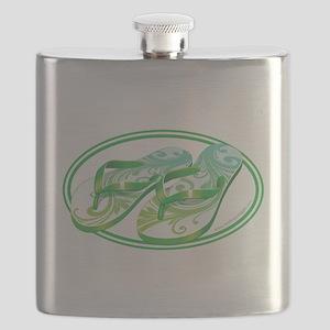 Beach Flop-Flops Gotcha Green Flask