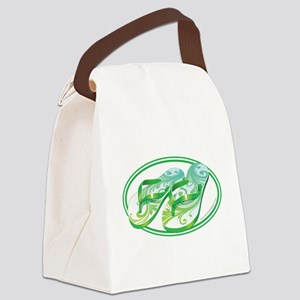 Beach Flop-Flops Gotcha Green Canvas Lunch Bag