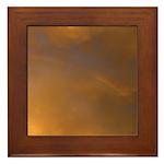Sunset Rainbow Right Framed Tile