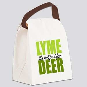 Lyme its not just for deer Canvas Lunch Bag