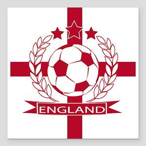 "England football soccer Square Car Magnet 3"" x 3"""