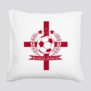England football soccer Square Canvas Pillow
