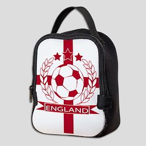 England football soccer Neoprene Lunch Bag