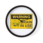 Brain in Use Wall Clock
