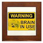Brain in Use Framed Tile