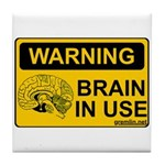 Brain in Use Tile Coaster