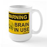 Brain in Use Large Mug