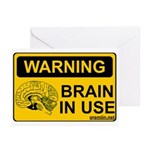 Brain in Use Greeting Cards (Pk of 10)