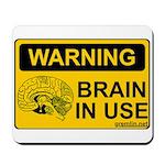 Brain in Use Mousepad