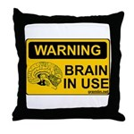 Brain in Use Throw Pillow