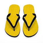 Gold Linen Look Flip Flops