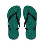 Rought Green Look 2 Flip Flops