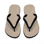 Tan Cement Look Flip Flops