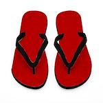 Red Satin Look Flip Flops