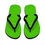 Textured Lime Green Look Flip Flops
