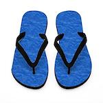 Textured Blue Look Flip Flops
