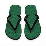 Textured Green Look Flip Flops