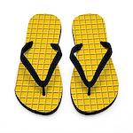Segmented Gold Look Flip Flops