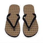 Segmented Brown Look Flip Flops