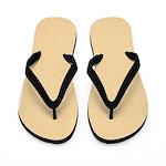 Tan Satin Look Flip Flops