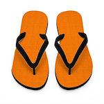 Orange Linen Look Flip Flops