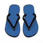 Blue Linen Look Flip Flops