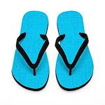 Cyan Linen Look Flip Flops