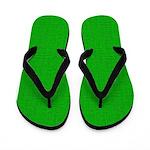 Light Green Linen Look Flip Flops