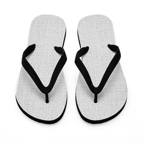 Light Gray Linen Look Flip Flops