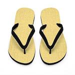 Yellow Linen Look Flip Flops