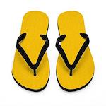 Gold Satin Look Flip Flops