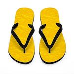 Textured Gold Look Flip Flops