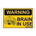 Brain in Use Rectangle Sticker