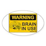 Brain in Use Oval Sticker