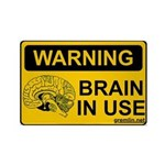 Brain in Use Rectangle Magnet (100 pack)