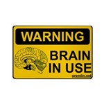Brain in Use Rectangle Magnet (10 pack)