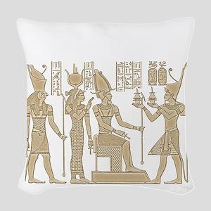 Egyptian Panel Woven Throw Pillow